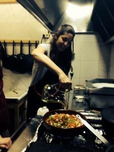 la Rotativa Gastronómica cocinando